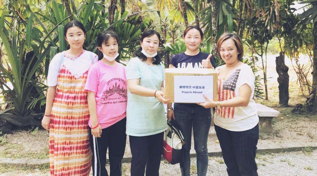 新型コロナウイルス感染症の流行に伴いプロジェクトアブロードが中国の病院にマスクを寄付する